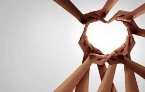 Unity,And,Diversity,Partnership,As,Heart,Hands,In,A,Group